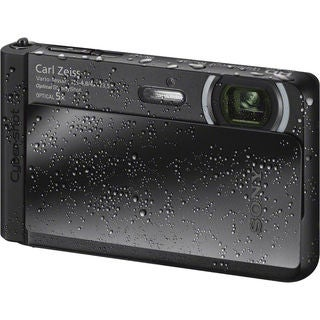 Sony Cyber Shot DSC-TX30 Waterproof 18.2MP Black Digital Camera