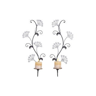Metal Candle Sconces (Set of 2)
