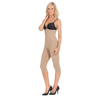 Julie France Leger Seamless High-waist Compression Capri Leggings