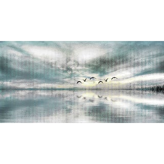 Parvez Taj 'Birds Skylight' Canvas Print