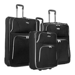 US Traveler Black Segovia 3-piece Expandable Luggage Set