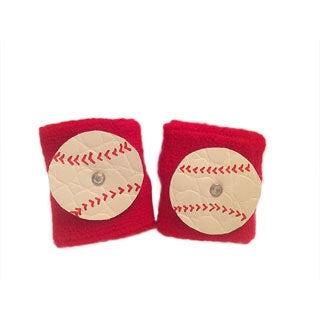 Mini e Boutique Leather Baseball Wristband