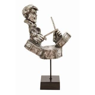 Oxidized Silver Musician Statue