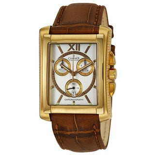 Charmex Men's 'Milano' Yellow Gold-Plated Stainless Steel Chronograph Watch