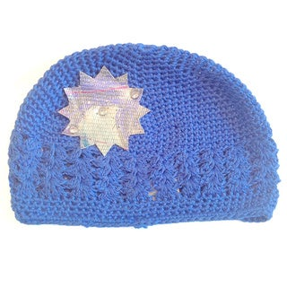 'Mini e Boutique' Leather Snowflake Crocheted Hat