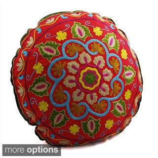 Swirl Design Round Floor Pillow (India)