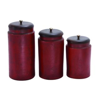Simple No-frill Rusty Red Terracotta Jar (Set of 3)