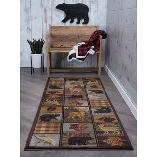 Lodge '106568' Multi Area Rug (2'7 x 7'3)