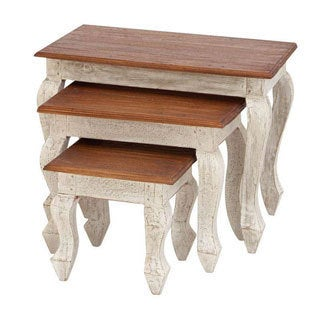 Wood Nesting Tables (Set of 3)