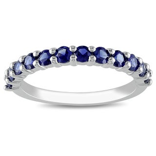 M by Miadora Sterling Silver Created Blue Sapphire Ring