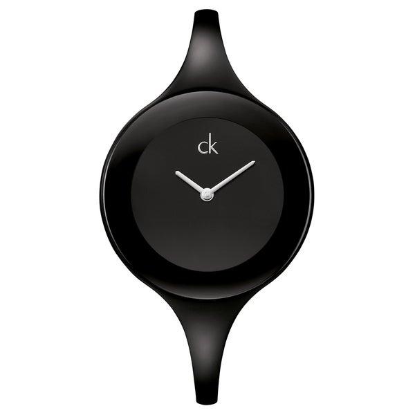 Calvin Klein Women's 'Mirror' Stainless Steel Black PVD Coated Swiss Quartz Watch