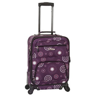 Rockland Deluxe Purple Pearl 20-inch Expandable Carry-On Spinner Upright Suitcase