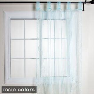 Tissue Organza Sheer Tab Top Curtain Panel