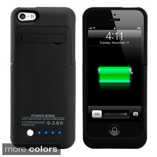 Gearonic 2200mAH External Battery Case with Kickstand for iPhone 5C