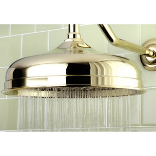 Victorian Polished Brass 10-inch Raindrop Showerhead