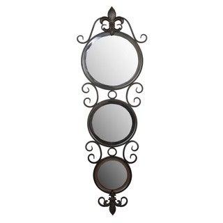Privilege 3-circle Iron Beveled Mirror