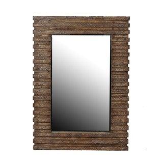 Privilege 42.5-inch Brown Reclaimed Wood Wall Mirror
