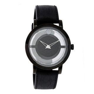 Movado Men's 'Museum' Black Stainless Steel Swiss Quartz Watch