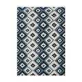 Alliyah Handmade Ikat Orion Blue New Zealand Blend Wool Rug (9' x 12')