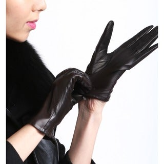 Women's I-Touch Lambskin Leather Texting Gloves