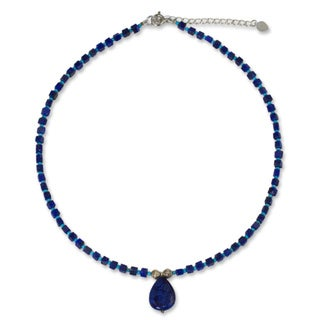 Sterling Silver 'Depths of Blue' Lapis Lazuli Necklace (Thailand)