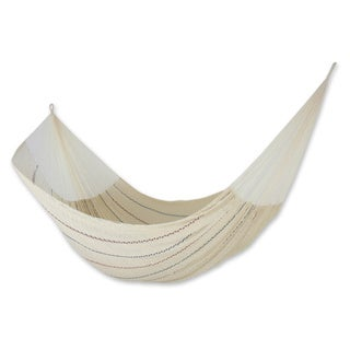 Handcrafted Cotton 'Sunset Riviera' Hammock (Triple) (Mexico)