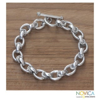 Sterling Silver 'Brave Lady' Bracelet (Indonesia)