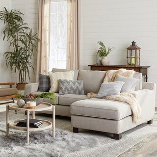 ABBYSON LIVING 'Beverly' Grey Fabric Sectional Sofa