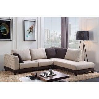 Abbyson Living 'Verona' Fabric Sectional Sofa