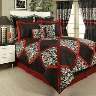 Sherry Kline True Safari Black 4-piece Bedding Collection