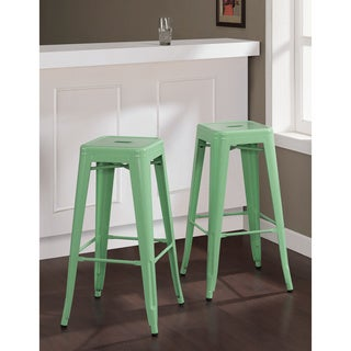 Tabouret 30-inch Hint of Mint Bar Stools (Set of 2)