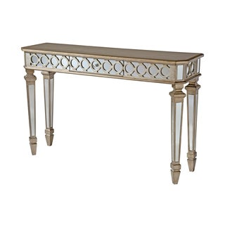 Mikala Mirrored Console Table with Center Drawer