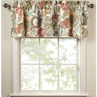 Brushed Ashore Red Cotton Curtain Valance