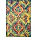 Skye Monet Blue/ Multi Rug (5'2 x 7'7)