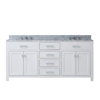 Madison Solid White Double Sink Bathroom Vanity