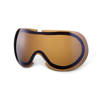 GLX Dual Thermal Pane Replacement Lens for SMB-56 Youth Snow Goggles (Bronze Iridium)