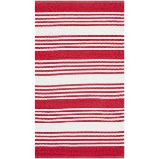 Safavieh Indoor/ Outdoor Thom Filicia Red Plastic Rug (2'6 x 4')