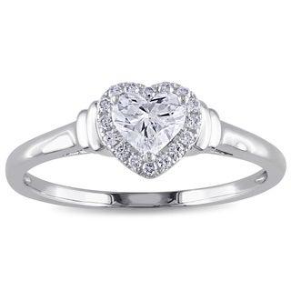 Miadora 14k White Gold 1/2ct TDW Heart Diamond Ring (G-H, I1-I2)