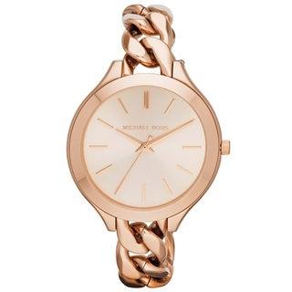 Michael Kors Women's MK3223 'Runway' Rose Gold-Plated Stainless Steel Watch