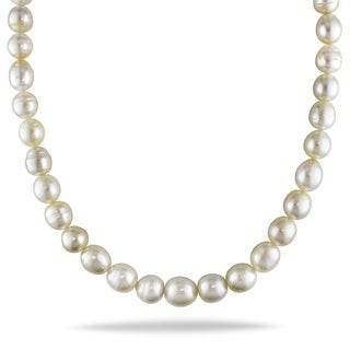 Miadora 14k Yellow 'AA' Gold South Sea Baroque Pearl Necklace (10-14 mm)