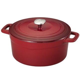 Guy Fieri Red 5.5-quart Cast Iron/ Porcelain Dutch Oven