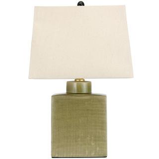 22-inch Moss Green Porcelain Jar Lamp (China)