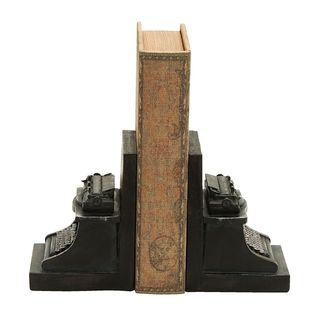 Old Look Typewriter Themed Book End Set