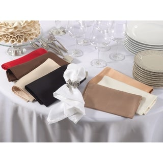 Satin Dinner Napkins (Set of 12)