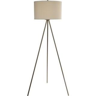 Threads Tripod Nickel Floor Lamp
