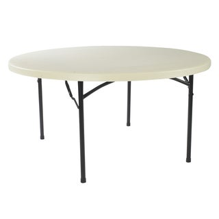 Lightweight 60-inch Round Plastic Folding Table