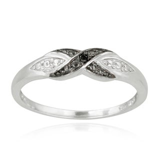 Haylee Jewels Sterling Silver Diamond Infinity Ring