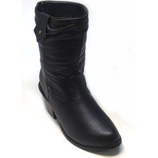 Blue Women's 'Westy' Black Mid-calf Western Boots