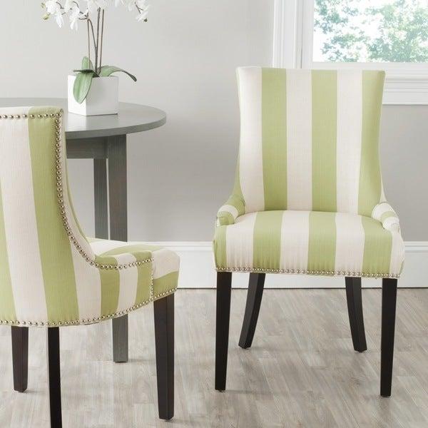 Safavieh Lester Multi Stripe Chair (Set of 2)