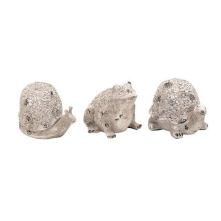 Long Lasting Poly Stone Animals (Set of 3)
